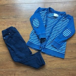 H&M 9-12 month Pants & Cardigan outfit